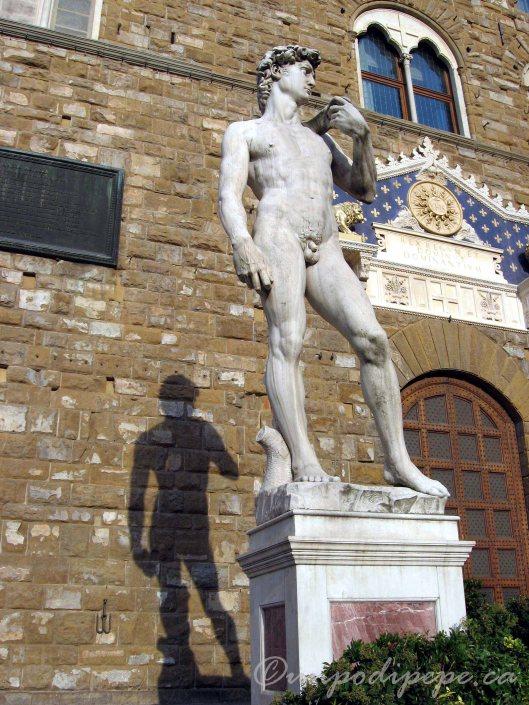 'Falso Davide' as I like to call him, outside the Palazzo Vecchio in Piazza della Signoria
