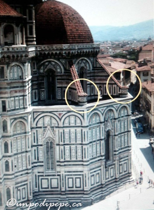 David was originally planned for one of these pedestals on the buttresses of Santa Maria del Fiore