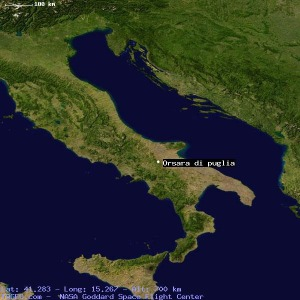 Orsara di Puglia-NASA Satellite view
