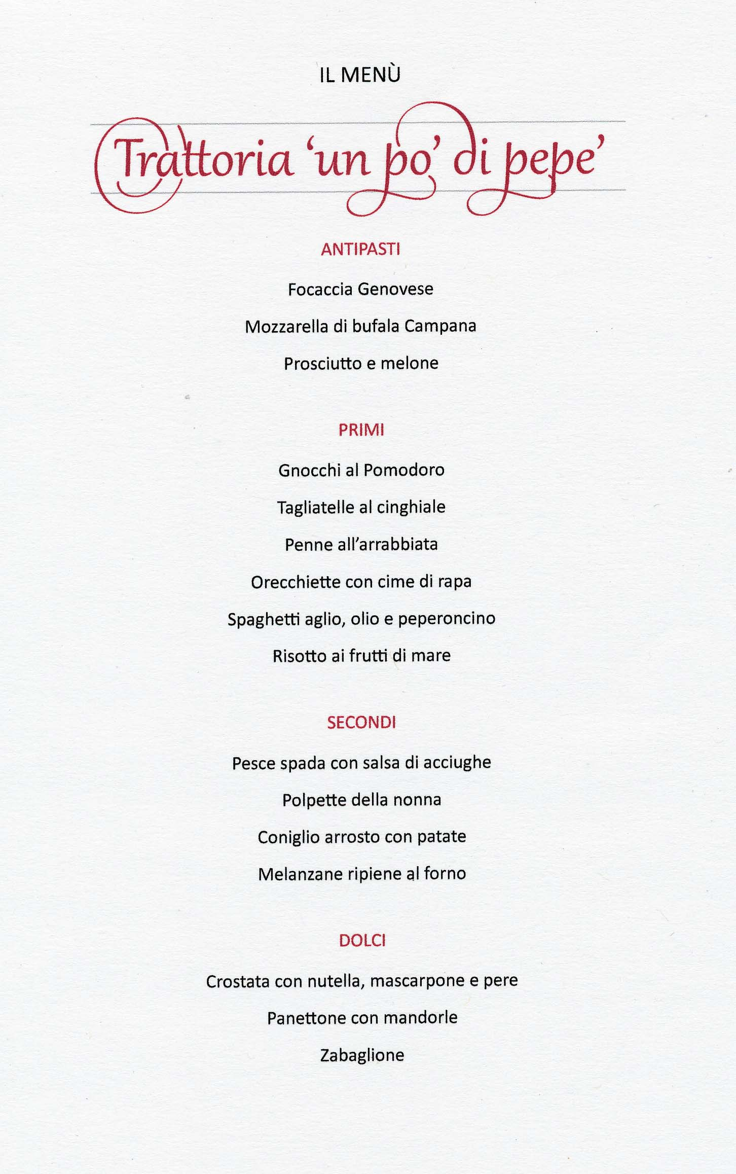 Menu Di Natale Word.Italiano Per Ristoranti How To Pronounce Your Restaurant