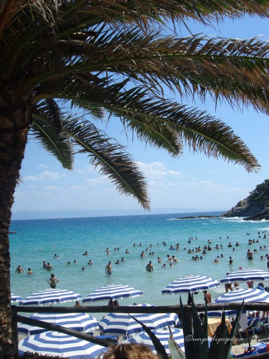 Cale delle Arene, San Domino-the only sandy beach on the Isole Tremiti