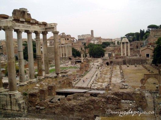 View of the Roman Forum (Foro Romano)
