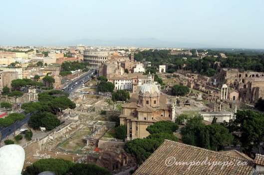 'Roma dal cielo' view from the roof of Il Vittoriano