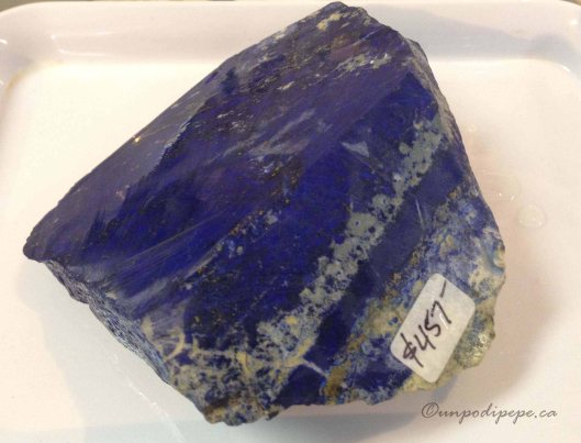 Lapis lazuli from the Sar-i-Sang mines in Afghanistan, courtesy of Mountain Gems, Burnaby BC.