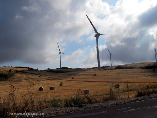 Pale eoliche (wind turbines) near Montaguto
