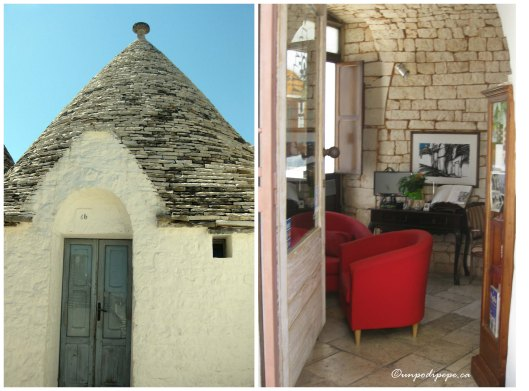 Exterior of a single trullo and interior of a trullo photo and art gallery