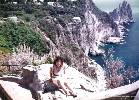 Here is me posing on my first visit to Capri when I was 16. Unfortunately I didn't know about Torta Caprese at the time.