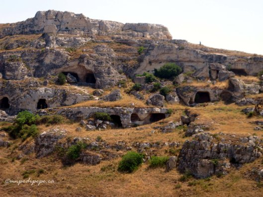 Grotte (caves) across the ravine from Matera