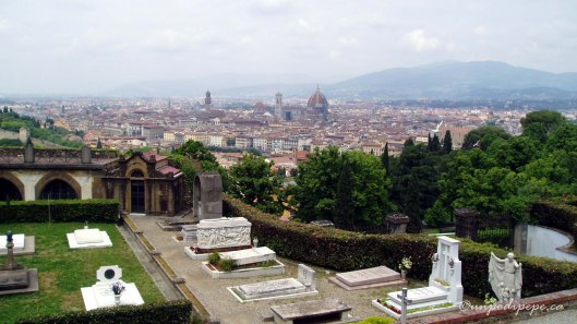 Firenze vista dal cimitero San Miniato al Monte/Firenze seen from the cemetery, San Miniato al Monte