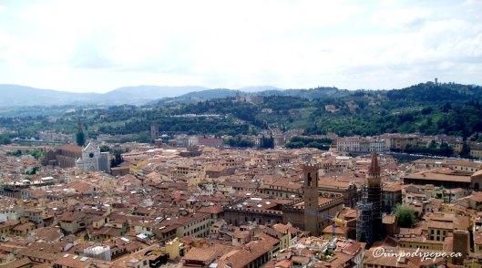 Vista di Santa Croce dalla Torre di Giotto