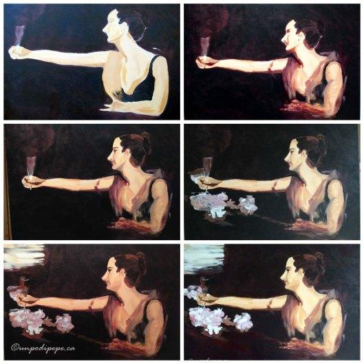 Madame Gautreau Drinking a Toast, Cristina Pepe 2016 www.unpodipepe.ca