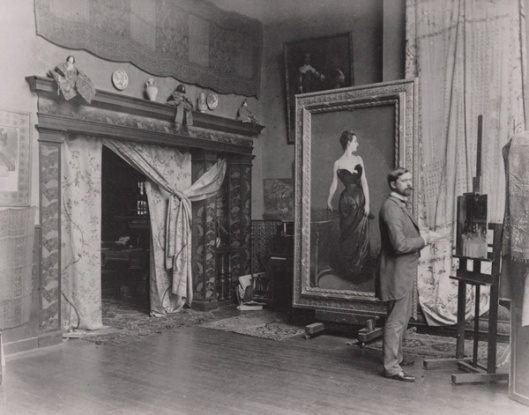 Sargent in his studio with Madame X. Image www.metmuseum.org