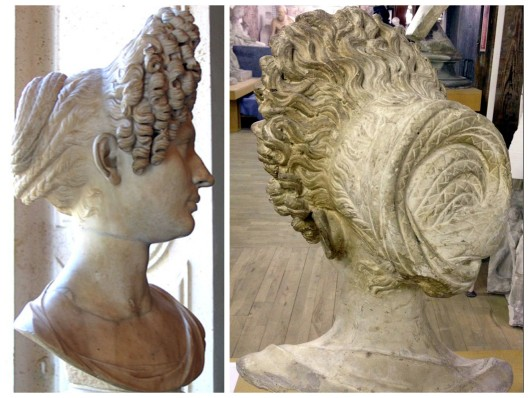 Fonseca bust, side and back view (the back view is of a plaster cast ) Photos Wikimedia Commons
