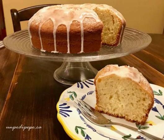 Olive oil limoncello cake