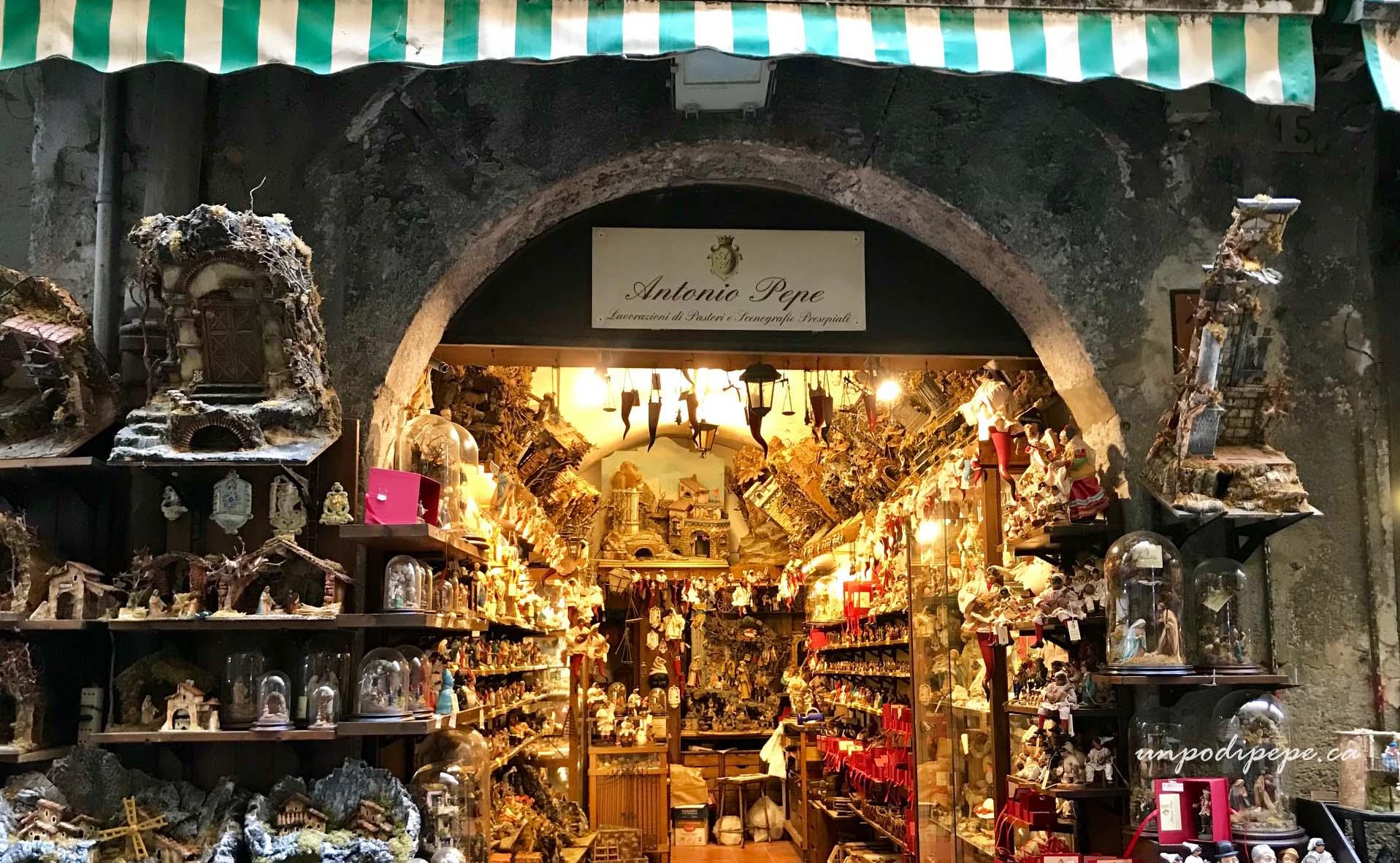 Via San Gregorio Armeni Napoli, Antonio Pepe, www.unpodipepe.ca