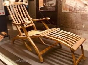 Titanic deck chair Maritime Museum of the Atlantic