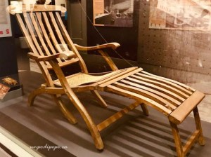 Titanic deck chair Maritime Museum of the Atlantic