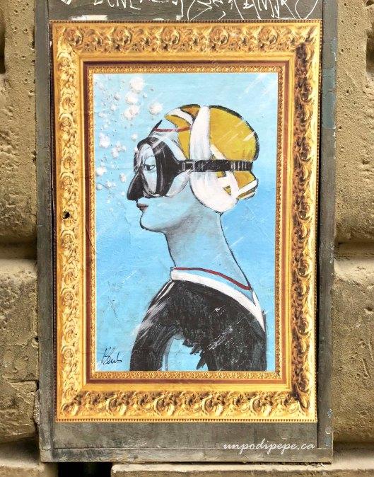 Blub street art firenze L'arte sa nuotare