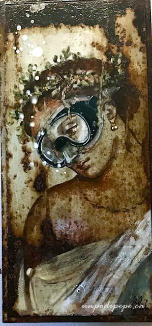 Detail from Il Volo di Dedalo e la caduta di Icaro Blub pompeii