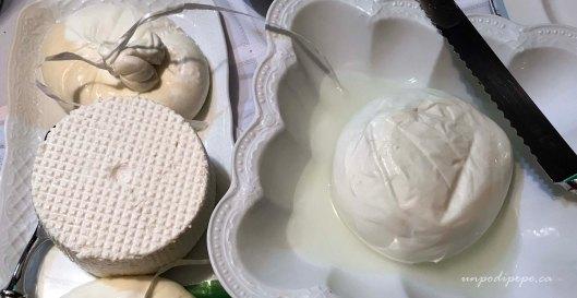 Burrata, ricotta e mozzarella di bufala