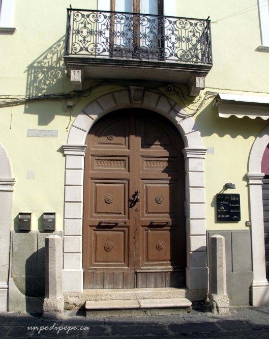 Via Regina Margherita doorway Troia, Puglia