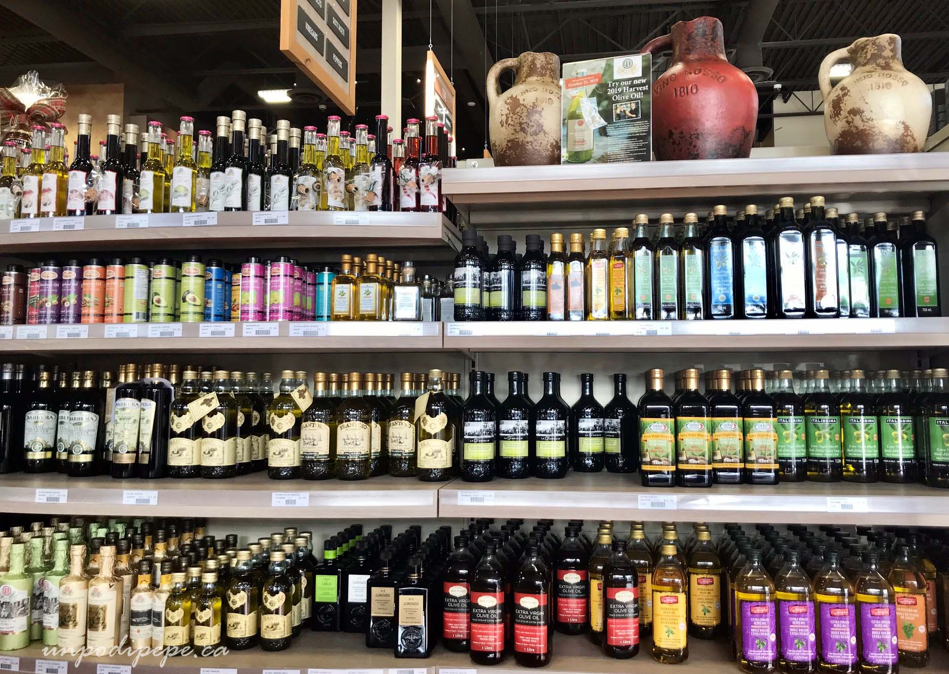 Olive oil section of supermercato