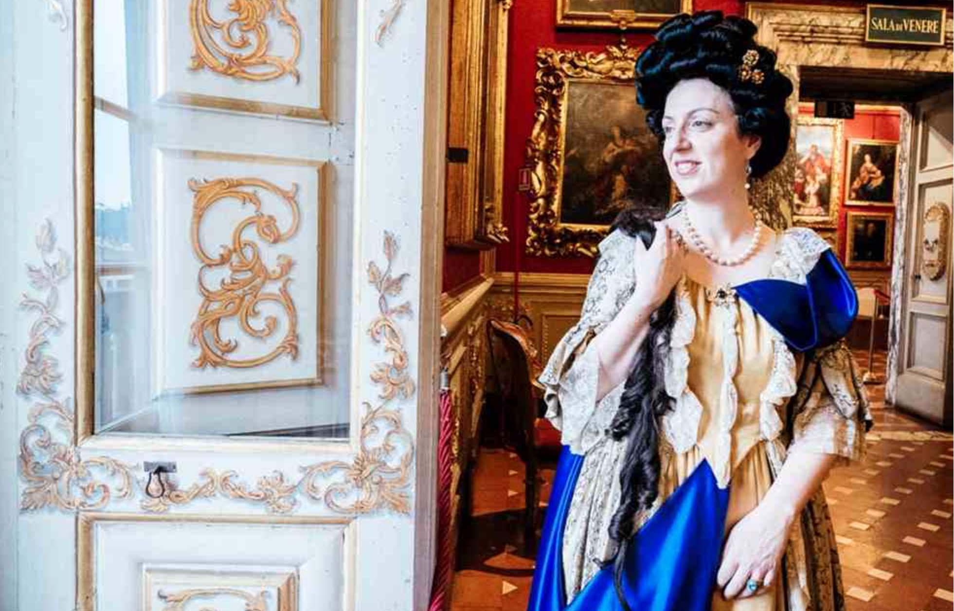 Actress playing Anna Maria Luisa de' Medici at Palazzo Pitti