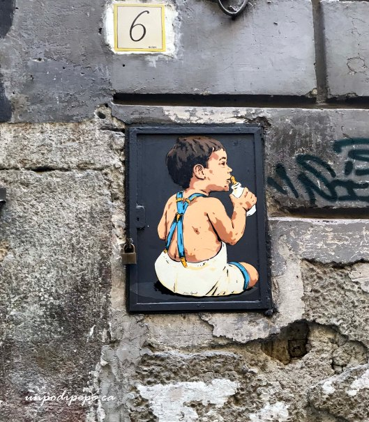 Napoli Street Art Stencil