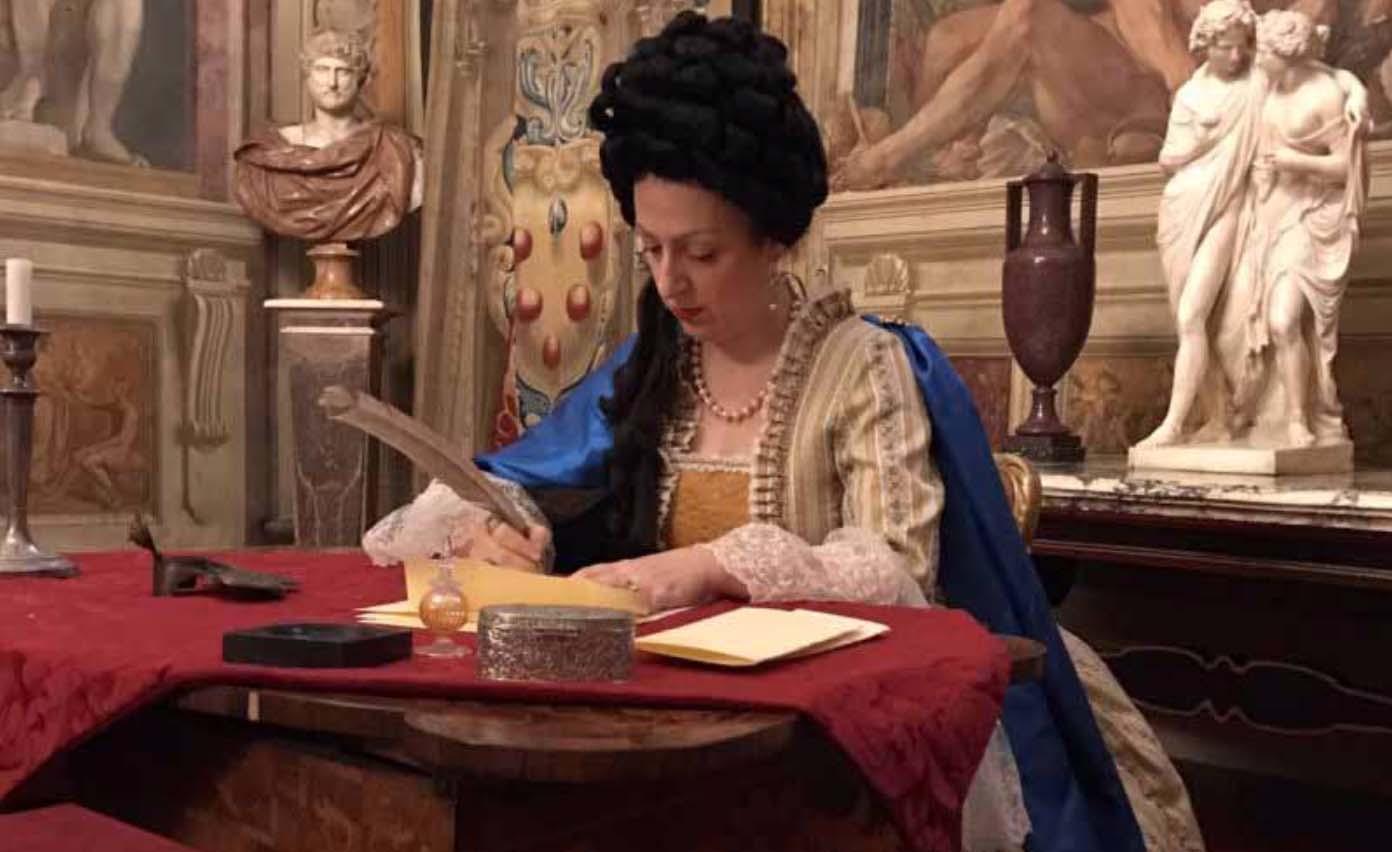 Anna Maria Luisa de' Medici signing the Patto di Famiglia