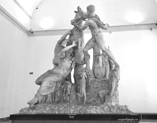Marble sculpture Toro Farnese in MANNapoli