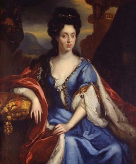 Anna Maria Luisa De' Medici portrait by Jan Van Douven