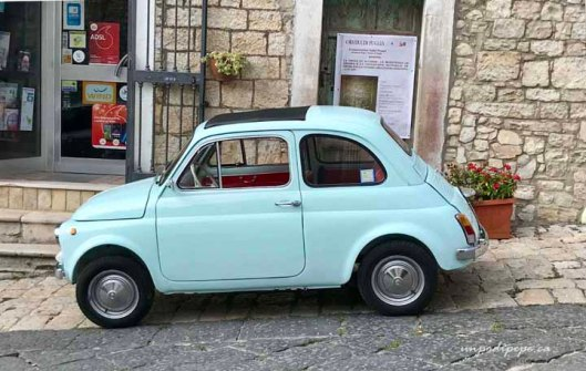 Robin's egg blue Fiat Cinquecento