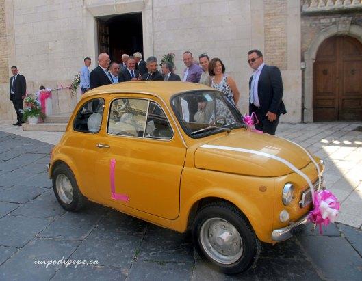 Fiat Cinquecento wedding car