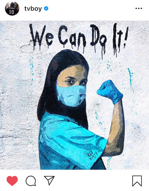 We can do it TV Boy street art