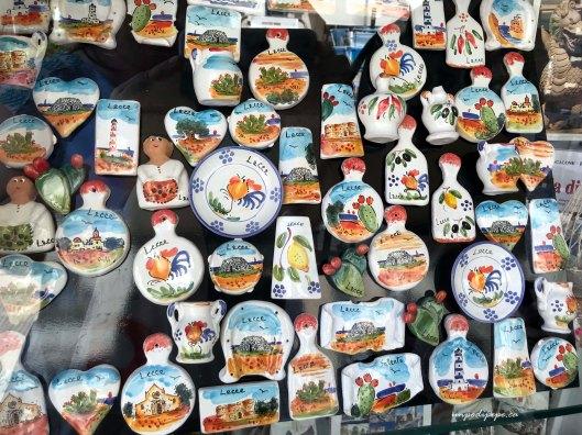 Lecce ceramic souvenirs