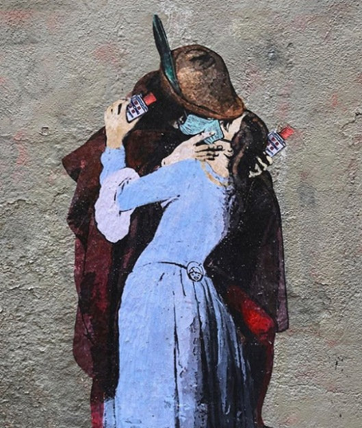 Il Bacio TV Boy Pandemic street art