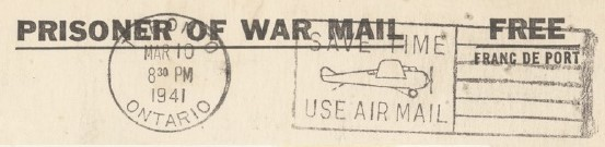 POW mail Columbus Center collection